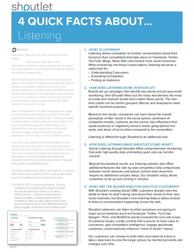 4 Quick Facts about Shoutlet Social Listening