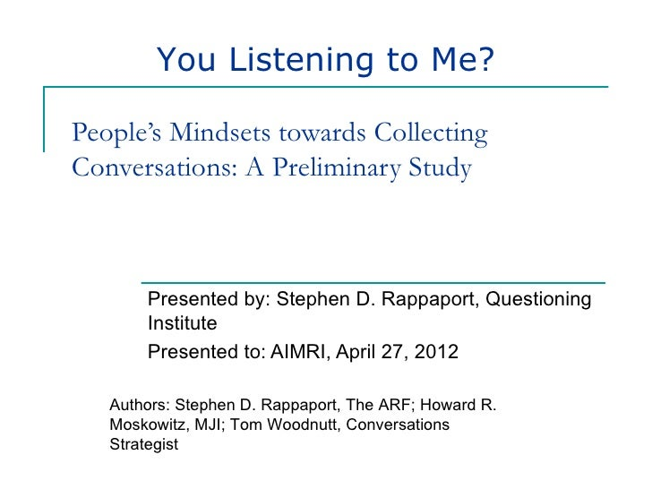 Listening data collection concerns and ethics, rappaport, qi