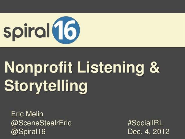 Listening & Storytelling for Nonprofits