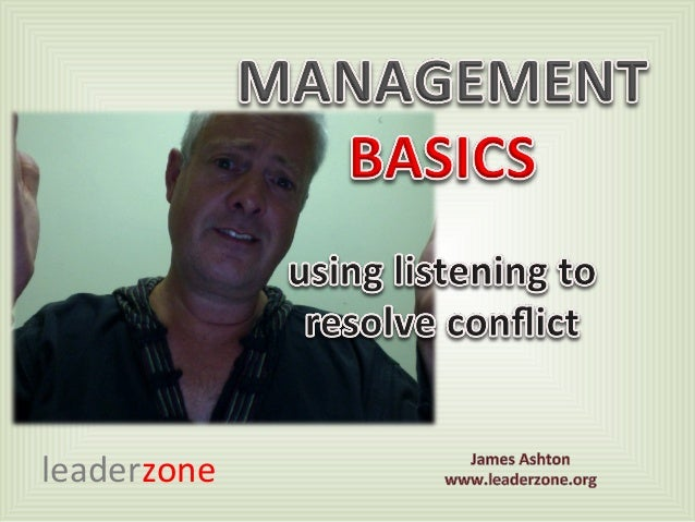Using your listening skills to disrupt conflict