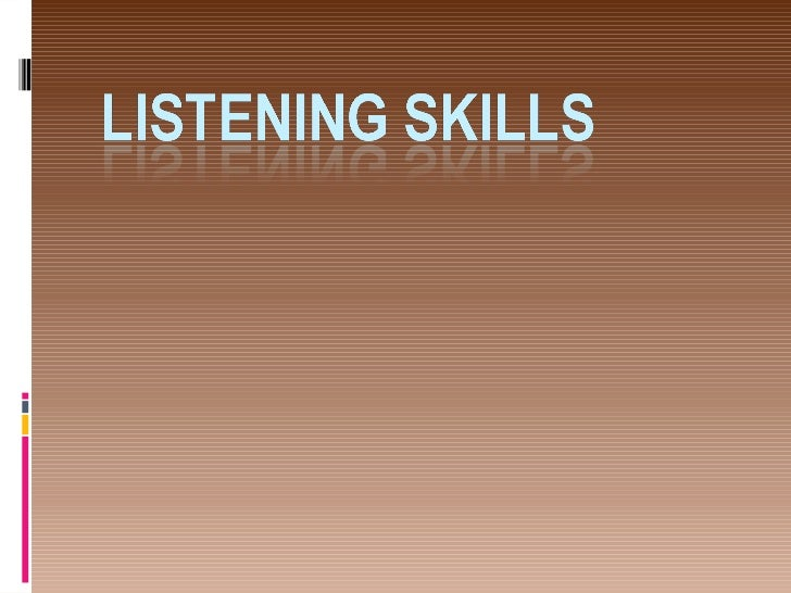 Why listening is important To avoid communication errors Key to Success