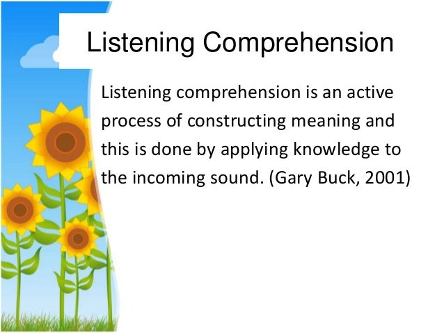 english research listening skill Yto study and compare english speaking skills using three communicative  developing speaking skills using three  skills using three communicative activities.