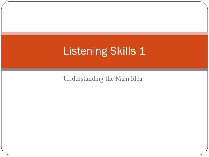 Listening Skills 1