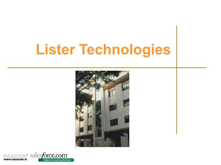 Lister Corporate Presentation