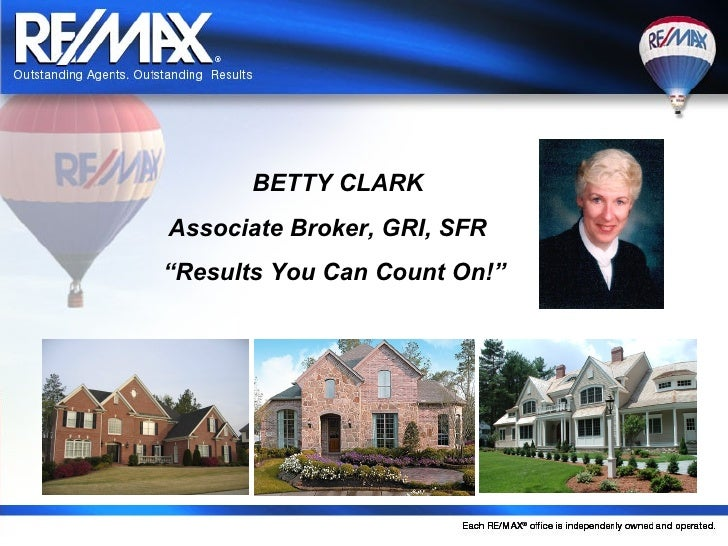 """BETTY CLARKAssociate Broker, GRI, SFR""""Results You Can Count On!"""""""