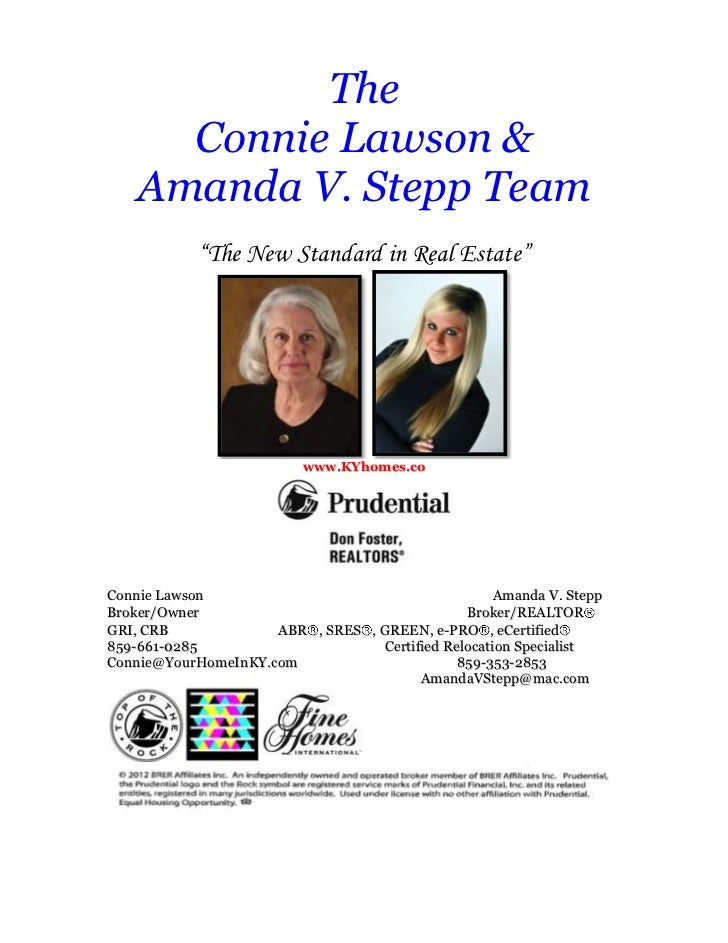 "The      Connie Lawson &    Amanda V. Stepp Team            ""The New Standard in Real Estate""                          www..."