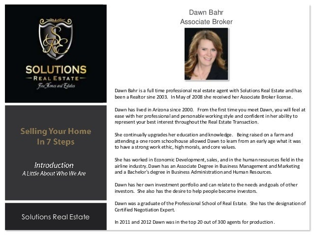 Listing Presentation Solutions Dawn on Real Estate Agent Profile Examples