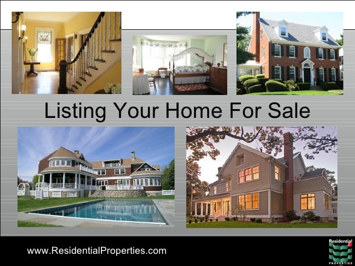 Listing Your Home For Sale