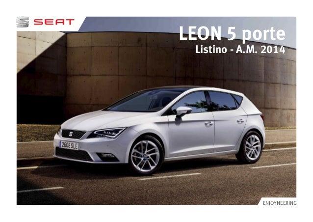 LEON 5 porte modello  Listino - A.M. 2014  ENJOYNEERING