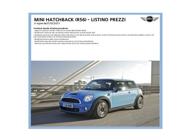 Listino Prezzi Mini R56 2013
