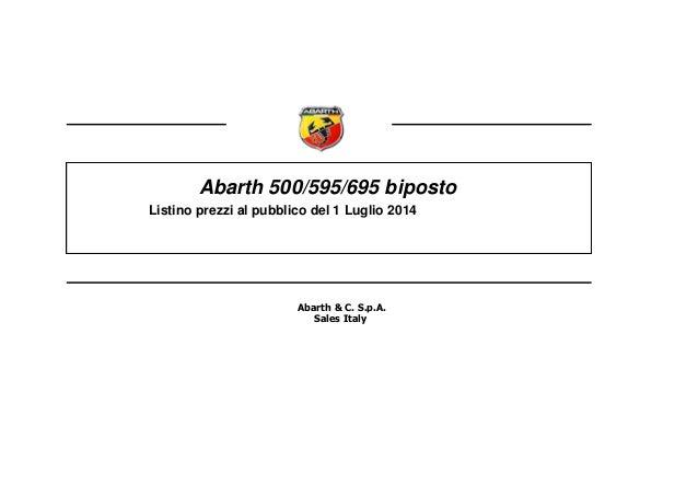 Listino prezzi abarth_695_biposto