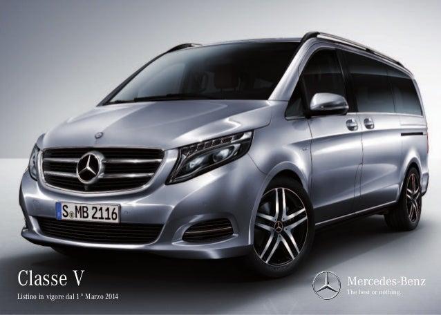 Listino prezzi Mercedes Classe V 2014