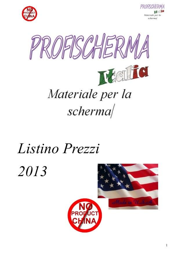 Listino prezzi profischerma 2013