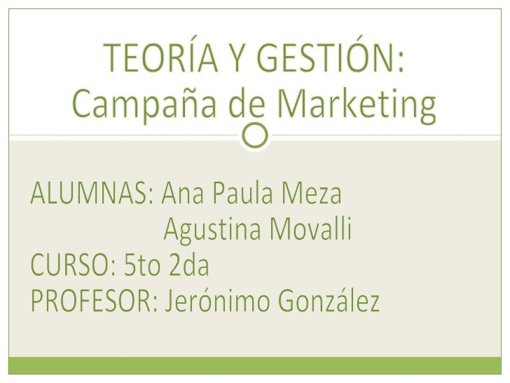 Campaña del marketing