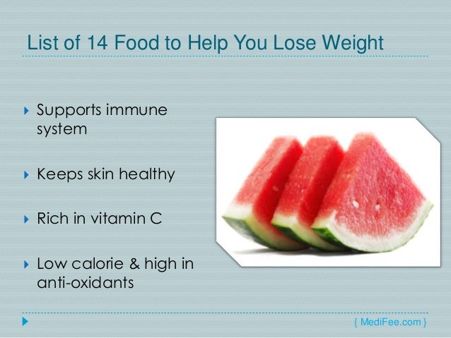How to Lose Weight by Eating - List of 14 Foods for Weight ...