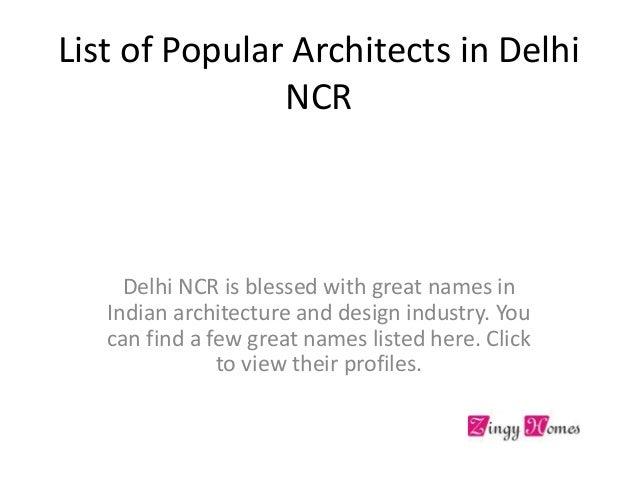 Architects In Delhi NCR