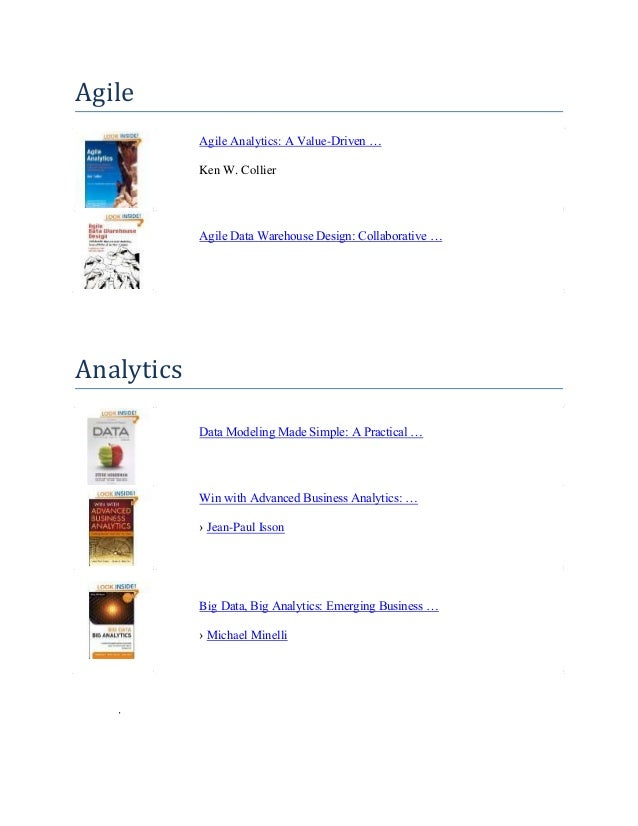 List of books to read for aspiring Business Intelligence (BI) Professionals
