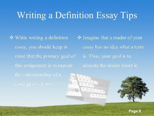 extended definition essay how to write Extended definition essay writing done with our assistance is original, interesting, and has no grammar mistakes we can help you with writing your extended.