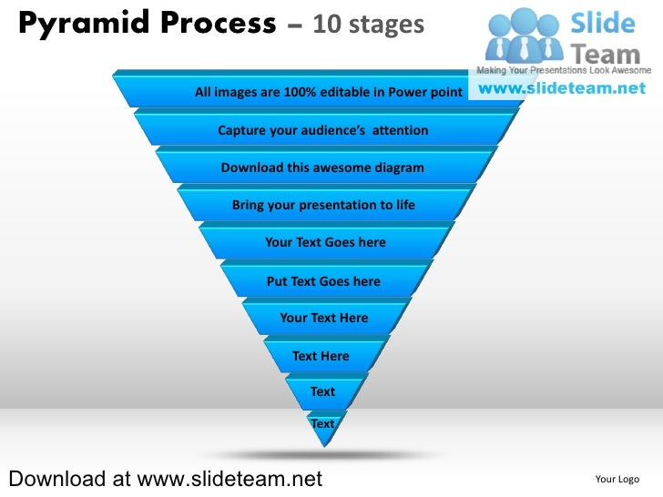List of items in pyramind form process 10 stages powerpoint presentation slides and ppt templates