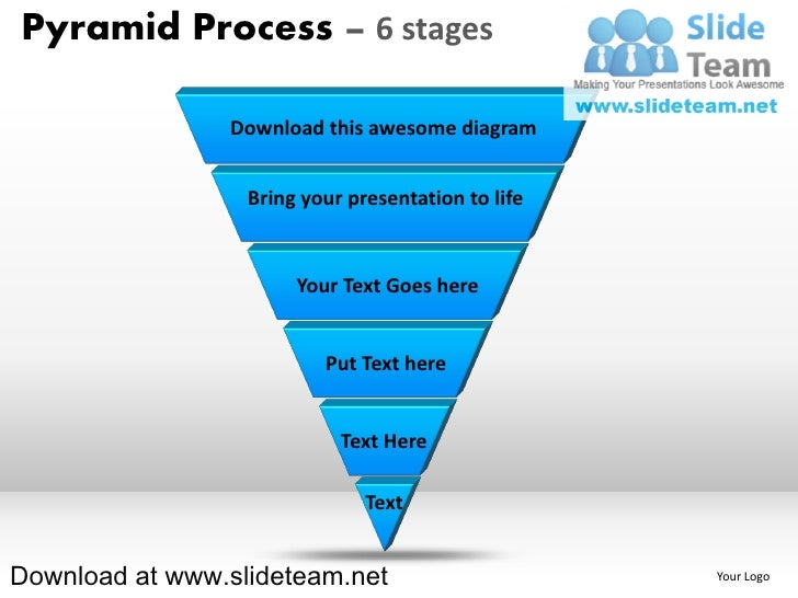 List of items in pyramind form process 6 stages powerpoint presentation slides and ppt templates