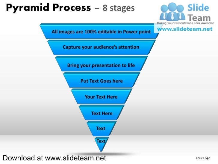 List of items in pyramind form process 8 stages powerpoint diagrams and powerpoint templates