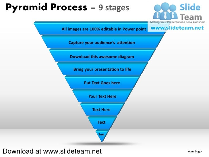 Pyramid Process – 9 stages                 All images are 100% editable in Power point                    Capture your aud...