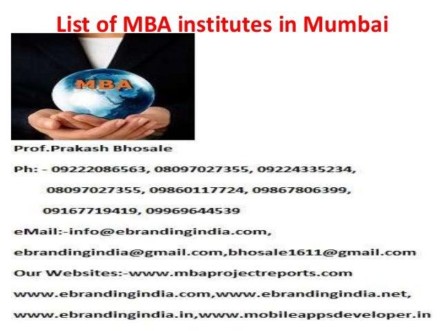 List of mba institutes in mumbai