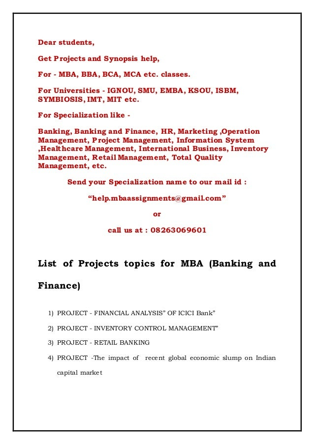 mba dissertation topics in operations management