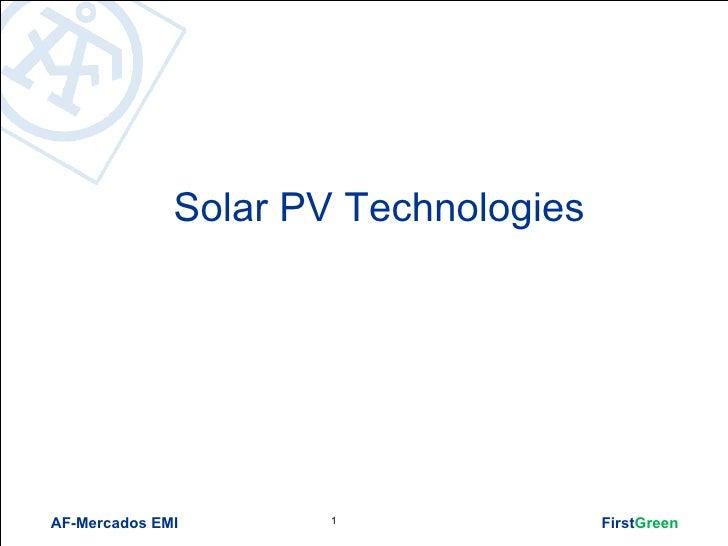 List Of Solar Technologies