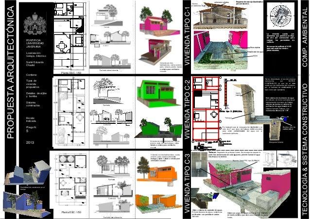 Lamina 5 proyecto de arquitectura en galapa for Laminas arquitectura