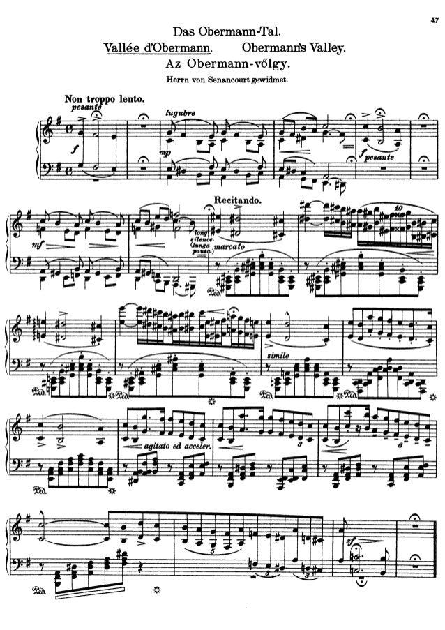 Franz Liszt Vallee d'Obermann