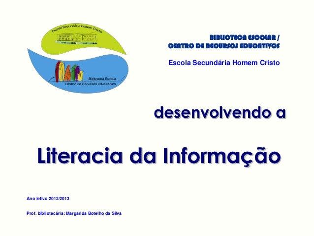 BIBLIOTECA ESCOLAR /                                                   CENTRO DE RECURSOS EDUCATIVOS                      ...