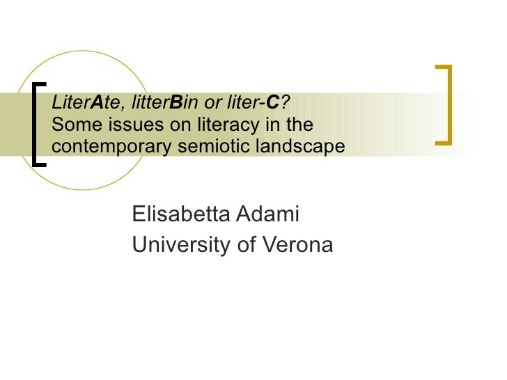 Literacy In The Contemporary Media Landscape