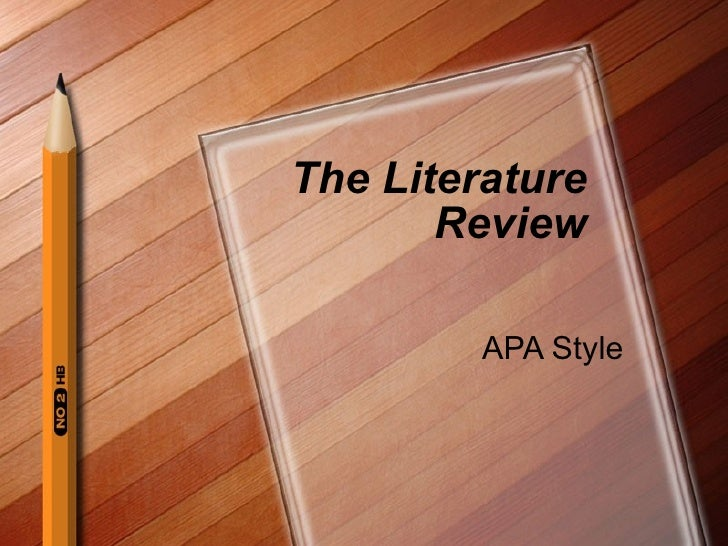 apa referencing for literature reviews