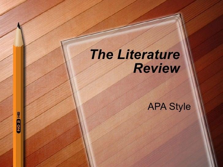sample literature review paper apa format