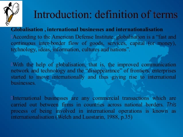 International business summary