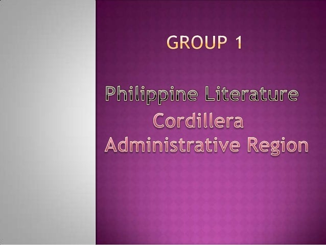    The Cordillera region is the most diversified ethno-    linguistic region in the Philippines with its major languages ...