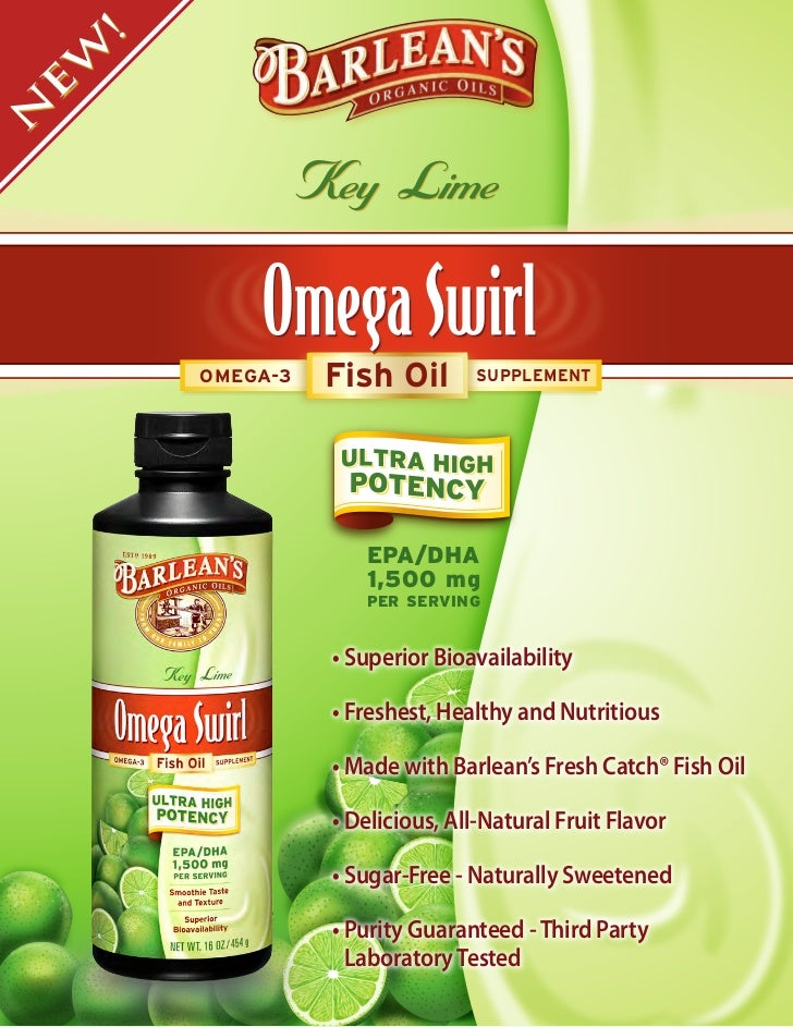 Now Available: Barlean's Key Lime Ultra High Potency Omega Swirl