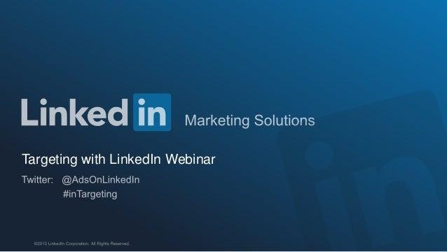 Targeting with LinkedIn Webinar