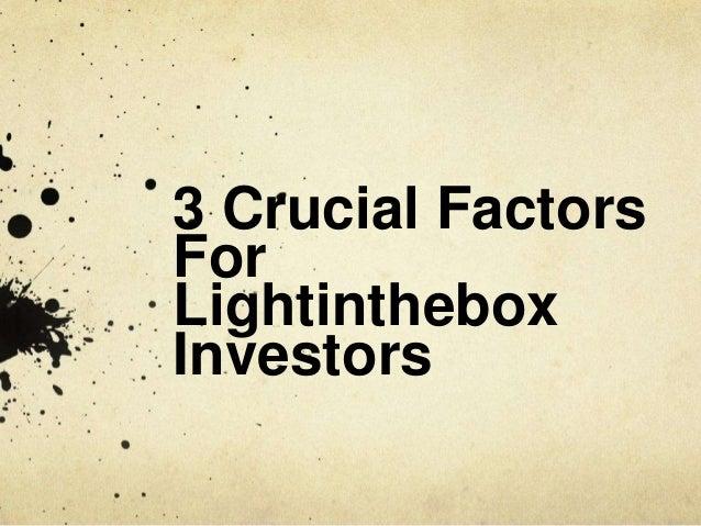 Investor Beware: Lightinthebox Isn't What You Think