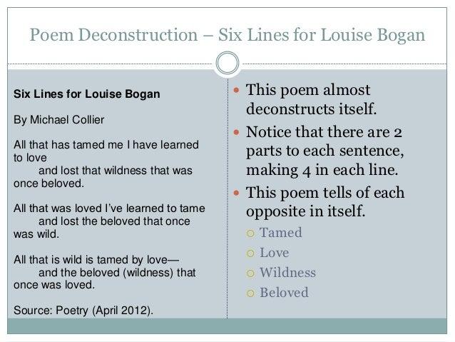 Deconstruction essay