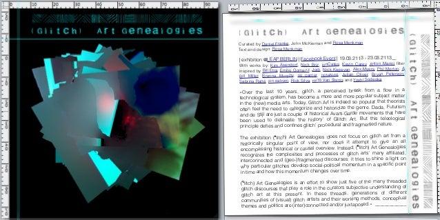 Curated by Daniel Franke, John McKiernan and Rosa Menkman Text and design: Rosa Menkman   exhibition @LEAP BERLIN! !Facebo...