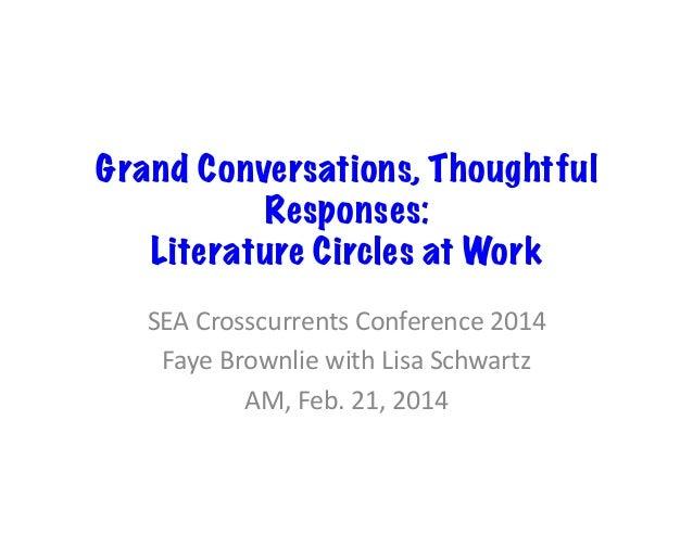 Lit circles.crosscurrents.2014