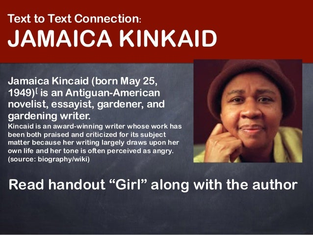 jamaica kincaid girl feminism essay Struggling with jamaica kincaid's girl check out our thorough summary and analysis of this literary masterpiece.