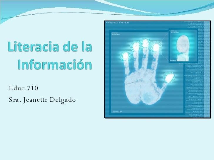 Literacia De La Información