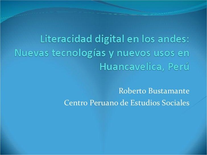 Roberto Bustamante Centro Peruano de Estudios Sociales