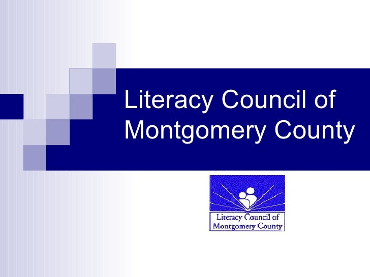 Literacy Council Of Montgomery County Powerpoint