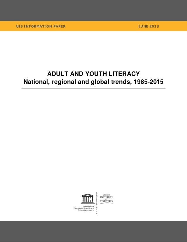 Literacy statistics-trends-1985-2015