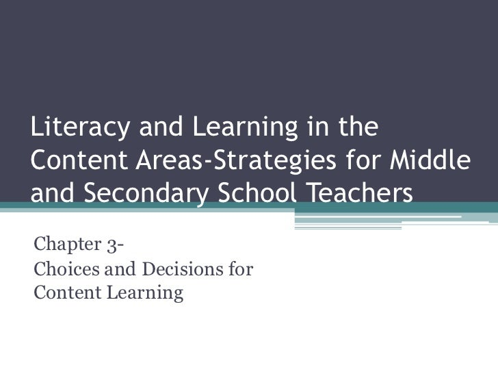 Literacy and learning 5   12 chapter 3