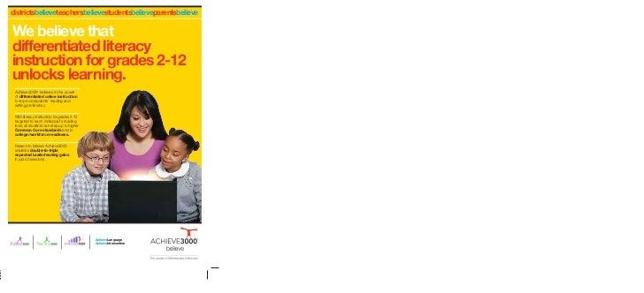 Achieve3000 literacy solutions brochure for Kidbiz